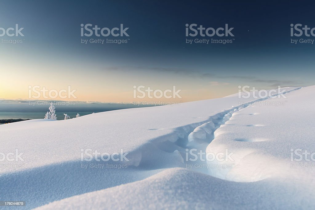 Ski Tracks royalty-free stock photo