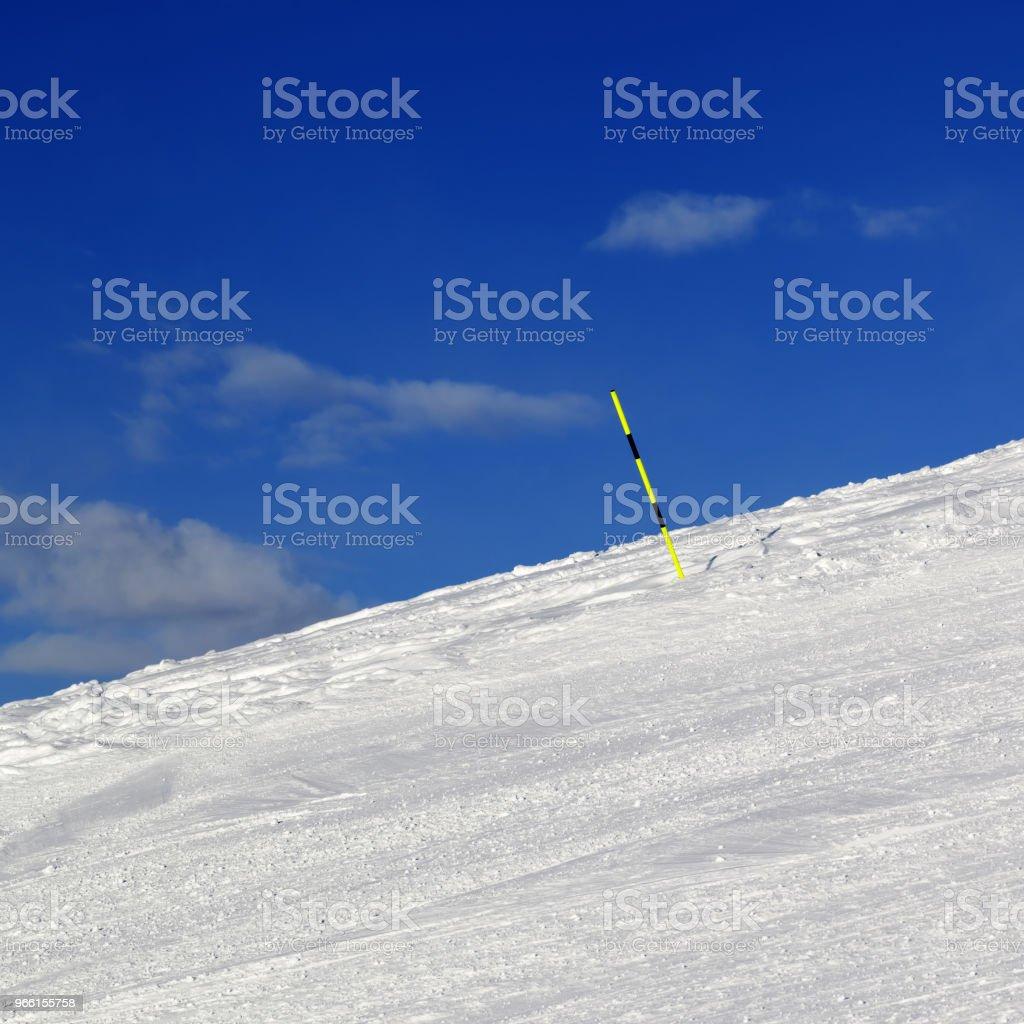 Ski parcours op winter resort - Royalty-free Afstandsmarkering Stockfoto