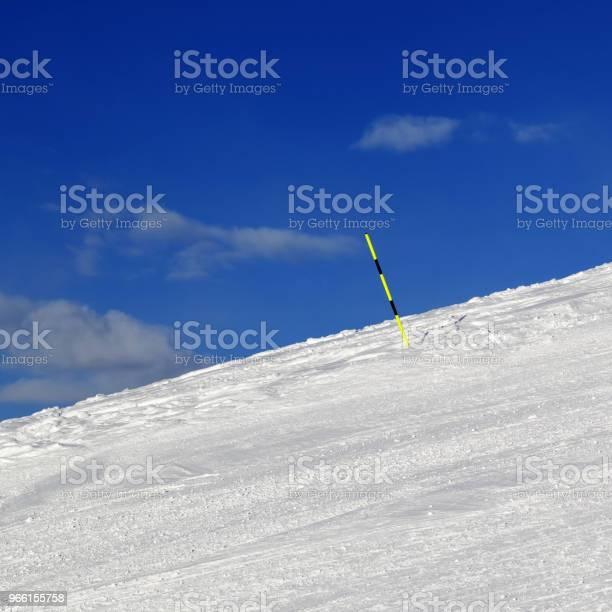 Ski Parcours Op Winter Resort Stockfoto en meer beelden van Afstandsmarkering
