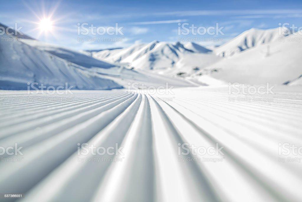 Ski Trail stock photo