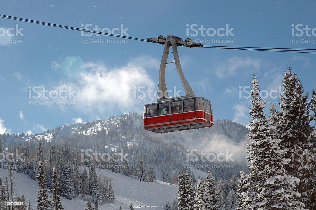 Ski Tram on beautiful winter day royalty-free stock photo