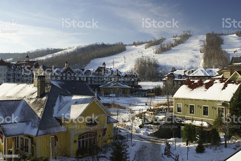 Ski Village stock photo