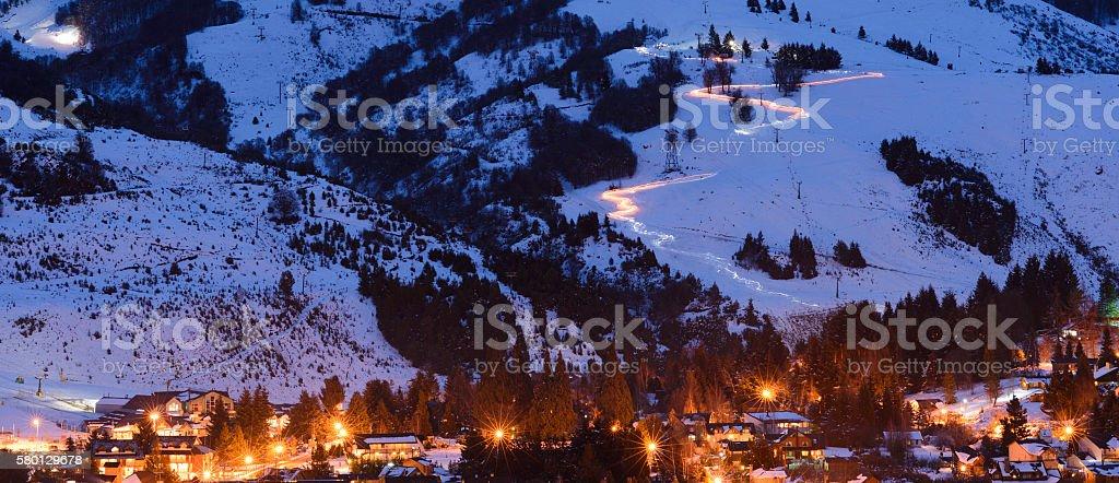 Ski Village, San Carlos de Bariloche, Argentina stock photo