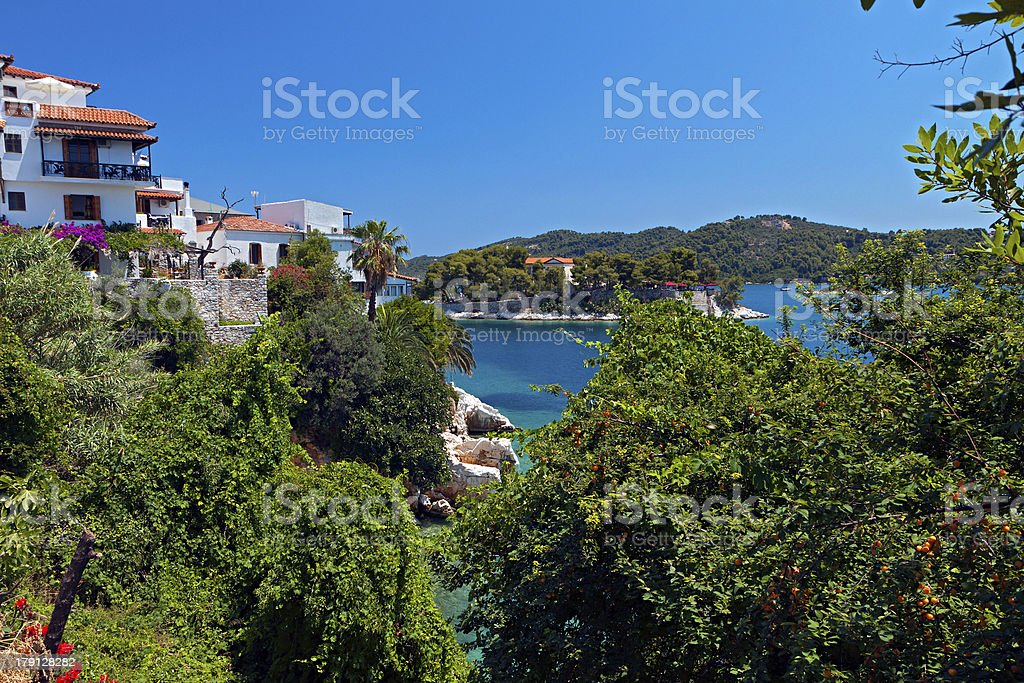 Skiathos island in Greece. stock photo
