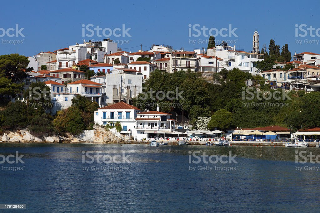 Skiathos island in Greece stock photo