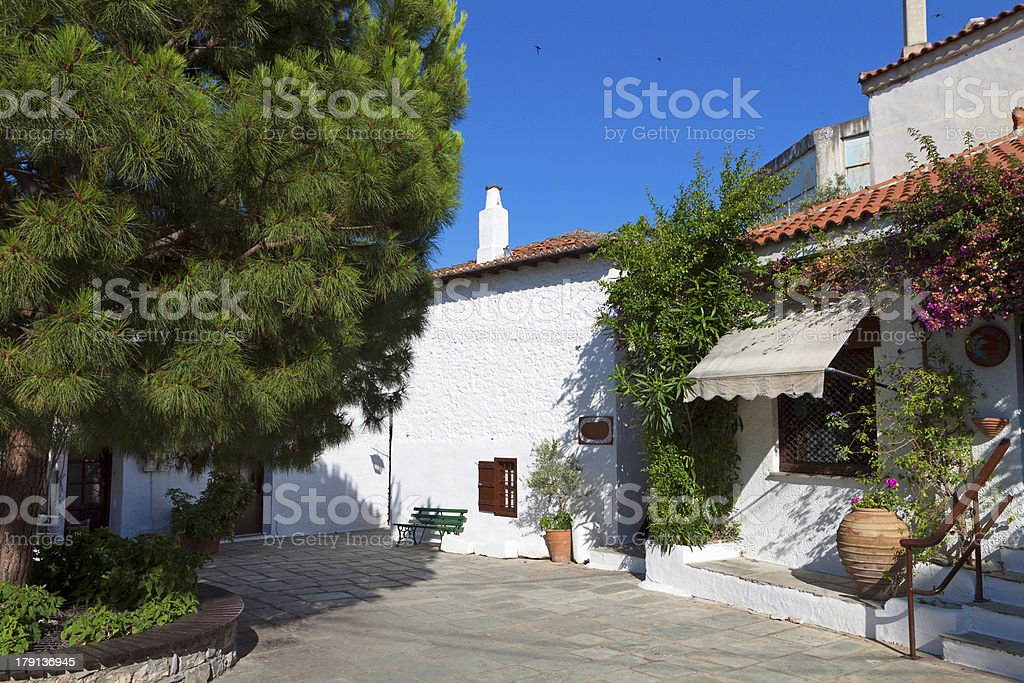 Skiathos island in Greece stock photo