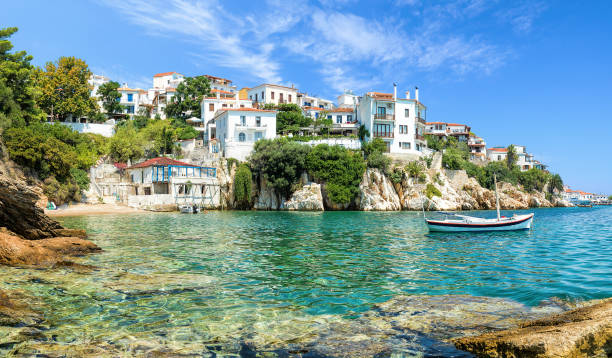 Skiathos old port Skiathos old port mediterranean sea stock pictures, royalty-free photos & images