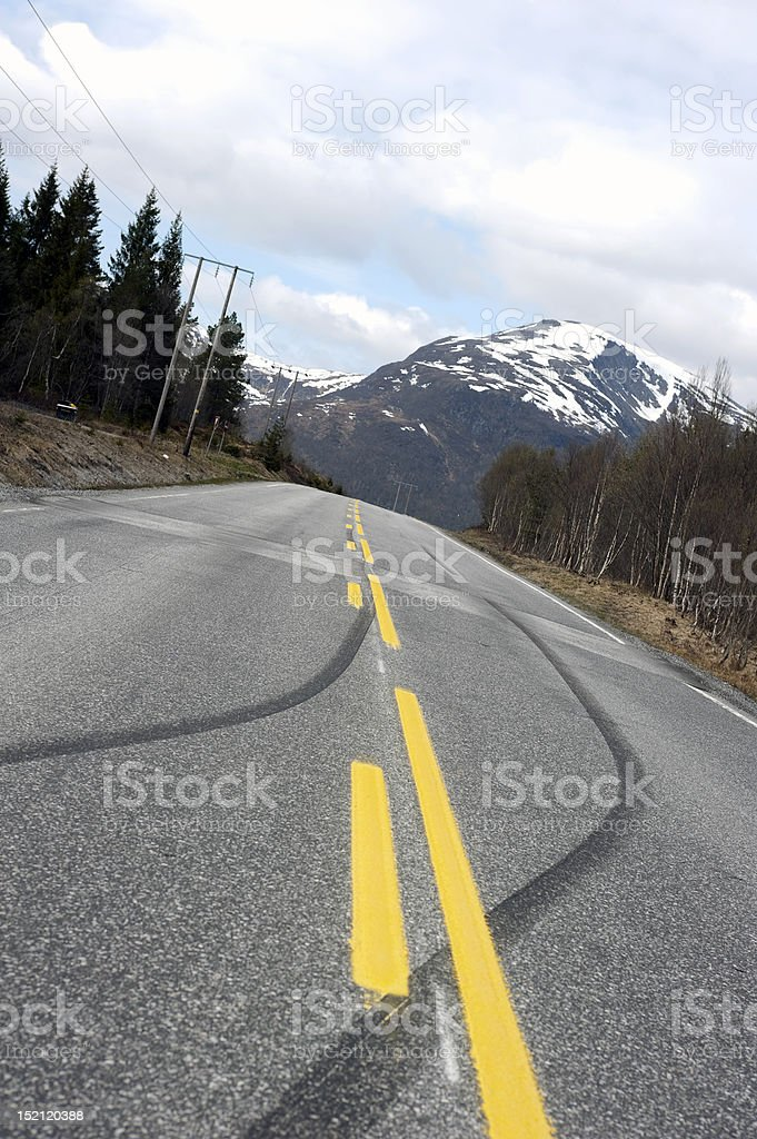 Skid marks stock photo