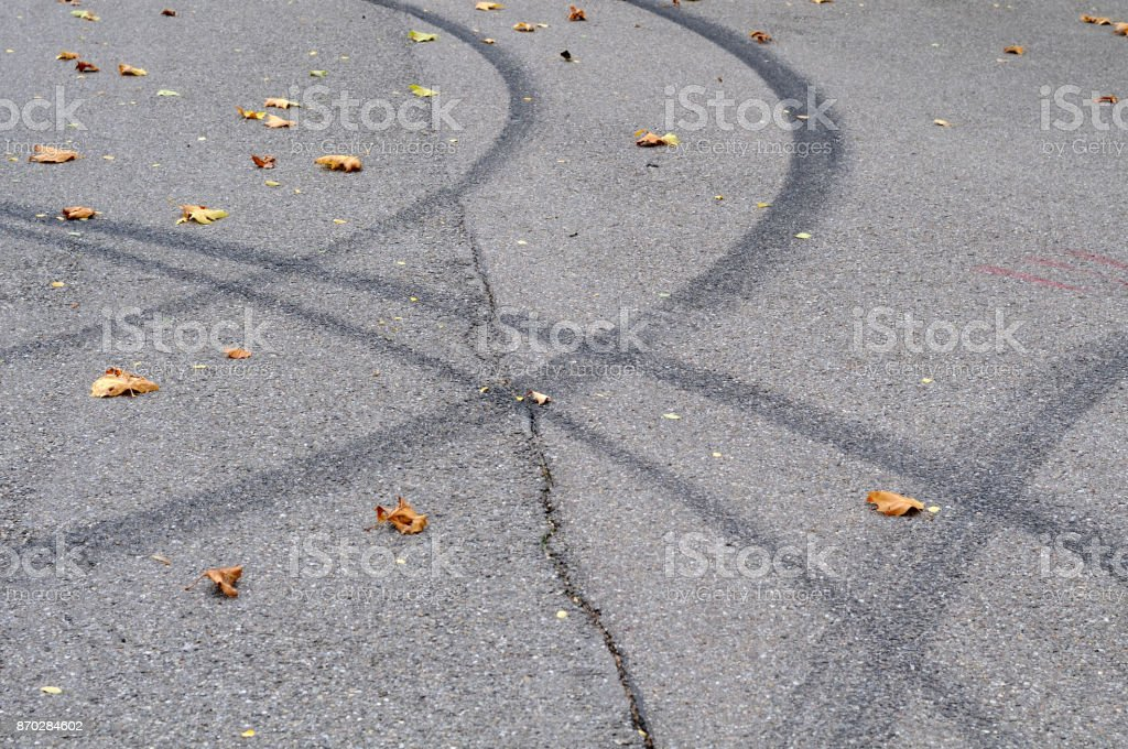 skid marks stock photo