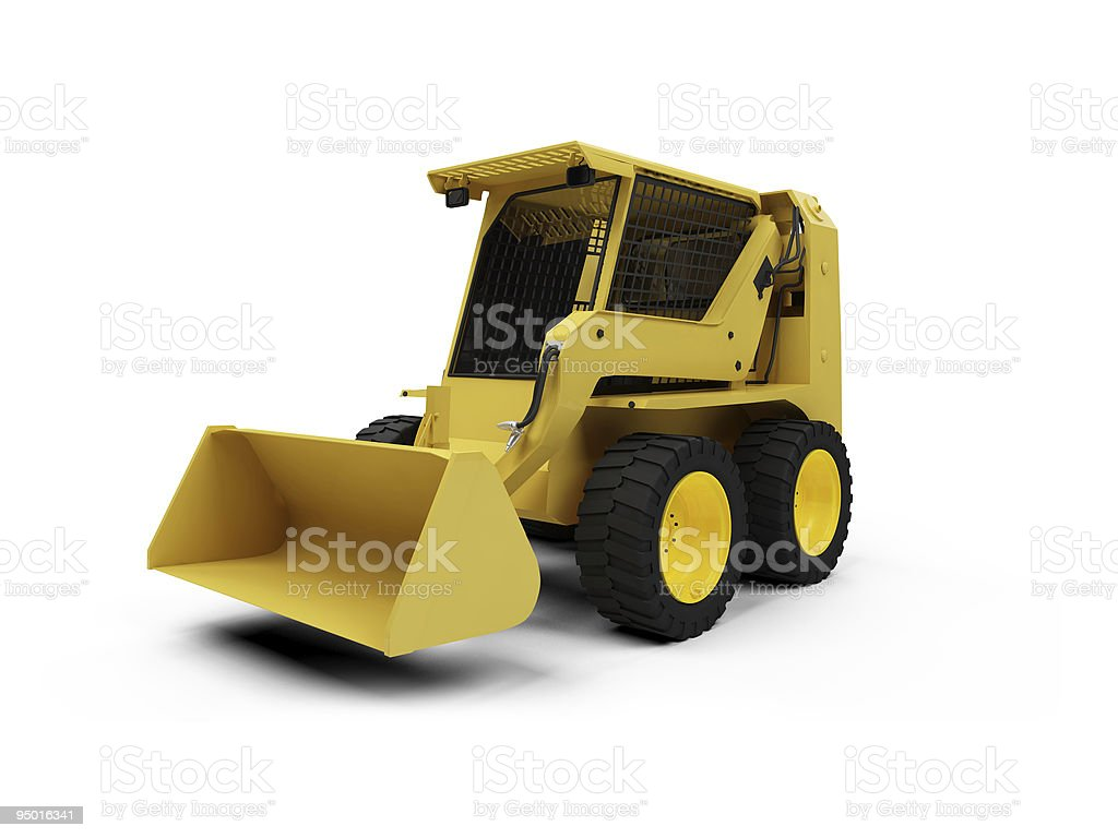 Skid steer loader isolated view stock photo