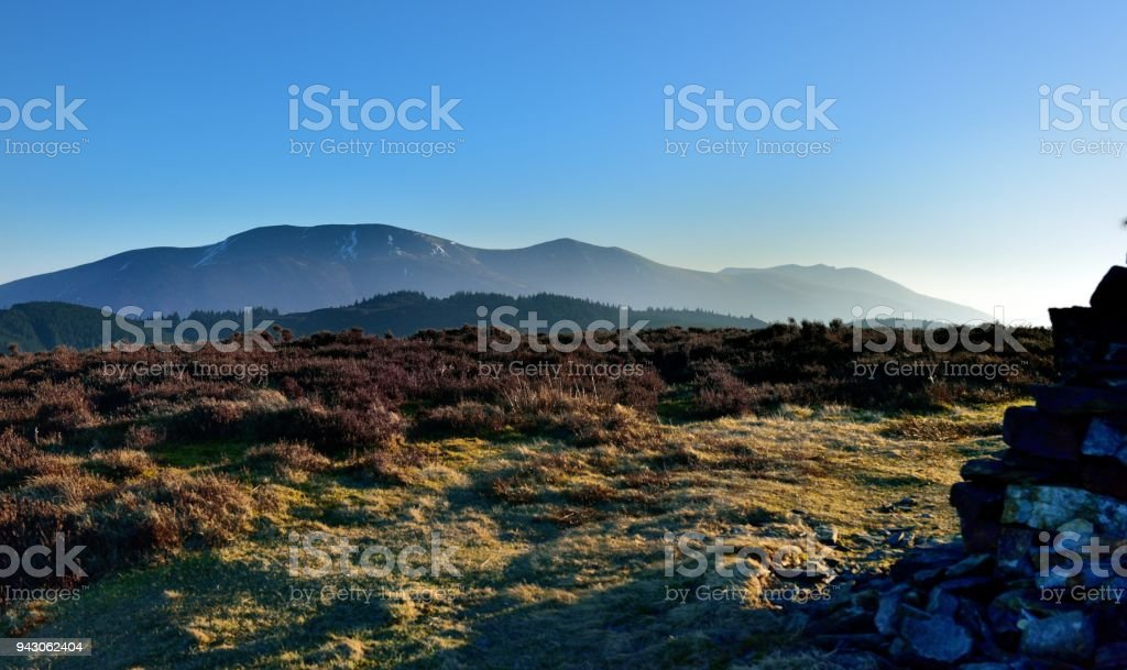 Skiddaw above Thornthwaite Forest stock photo