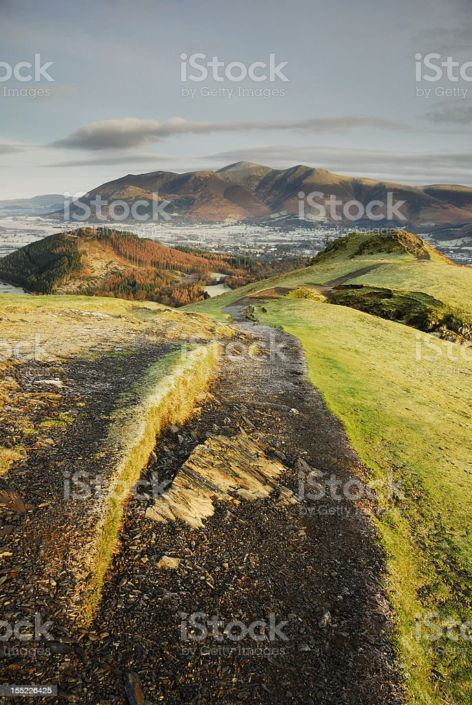 Skiddaw from Cat Bells in the English Lake District royalty-free stock photo