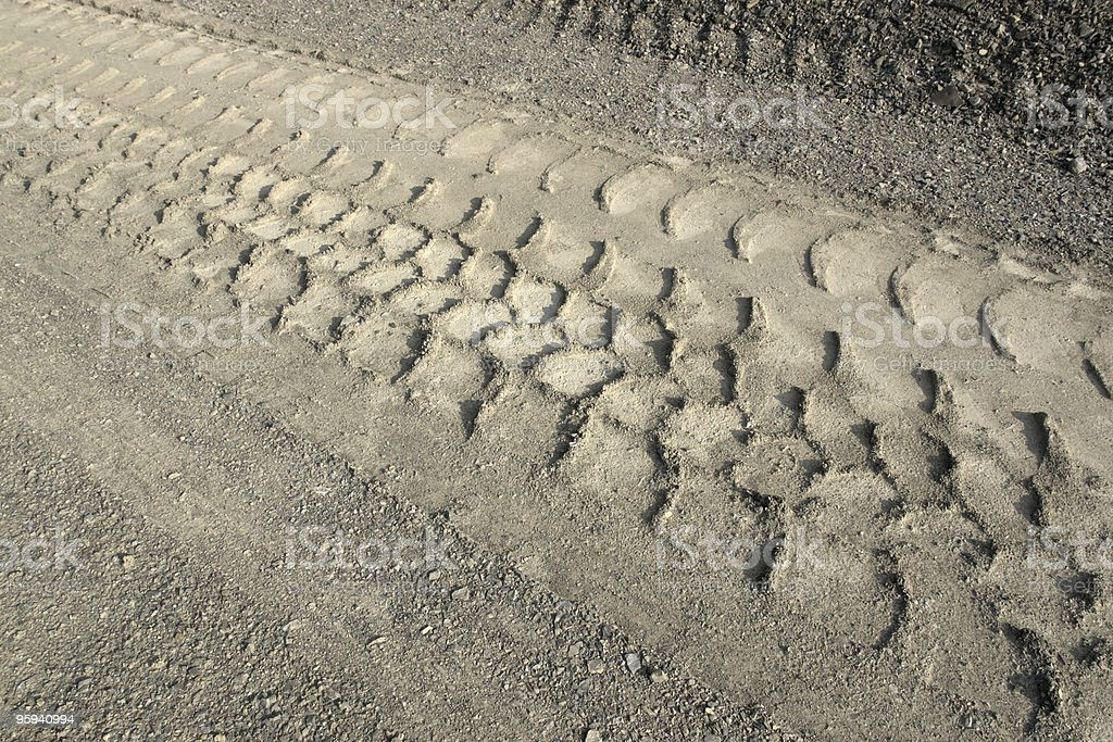 skidmark in the ground royalty-free stock photo