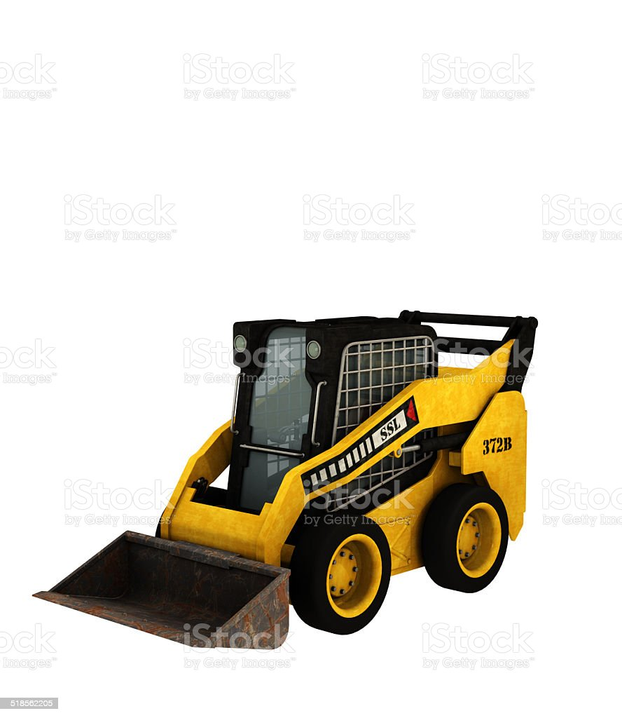 Skid-steer loader machine stock photo