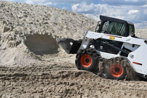 skid-steer loader stock photo