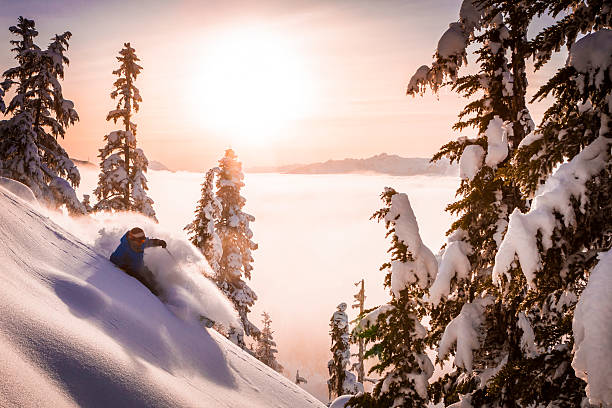 Skier carving fresh powder in sunset picture id614748454?b=1&k=6&m=614748454&s=612x612&w=0&h=nokyt7e8qvwoz 0cijlcgrtdyqy17jryqahhqvfapf4=