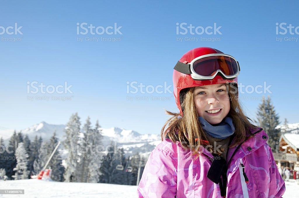 Skieur fille, prises sur le vif et - Photo