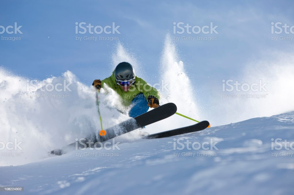 Skier in action royalty-free stock photo