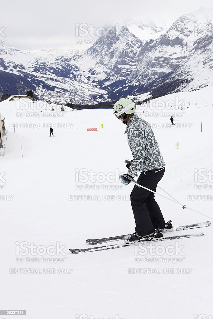 Skier in Alps royalty-free stock photo