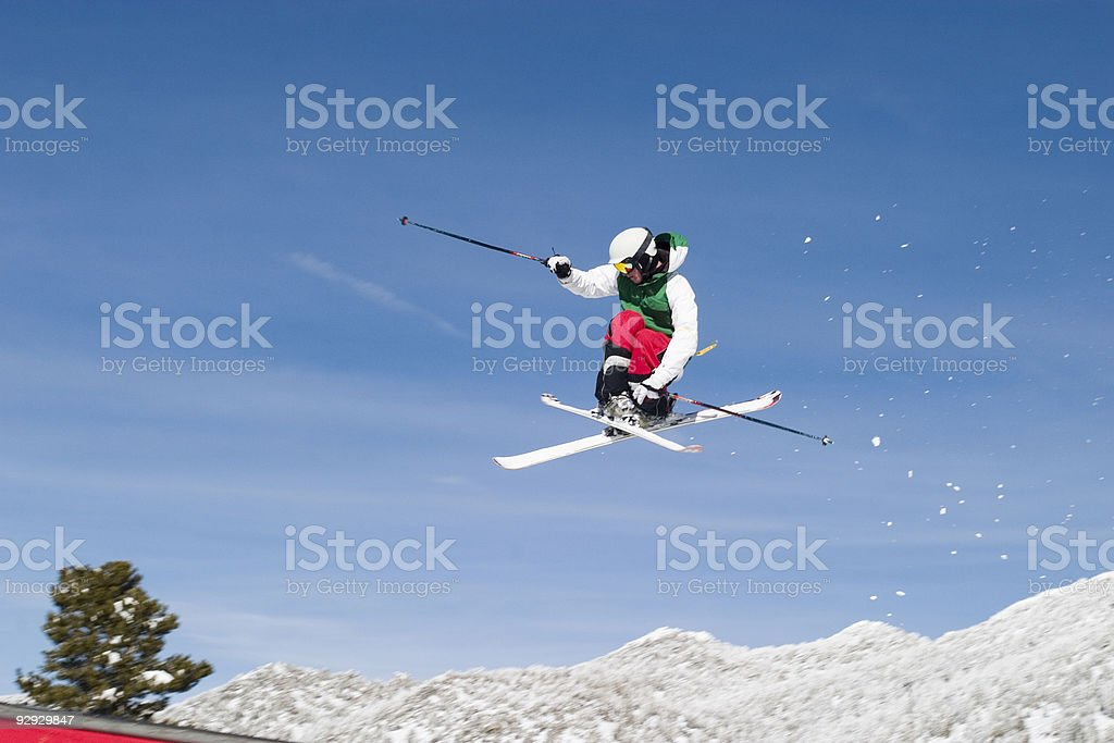 Skier Jumping stock photo