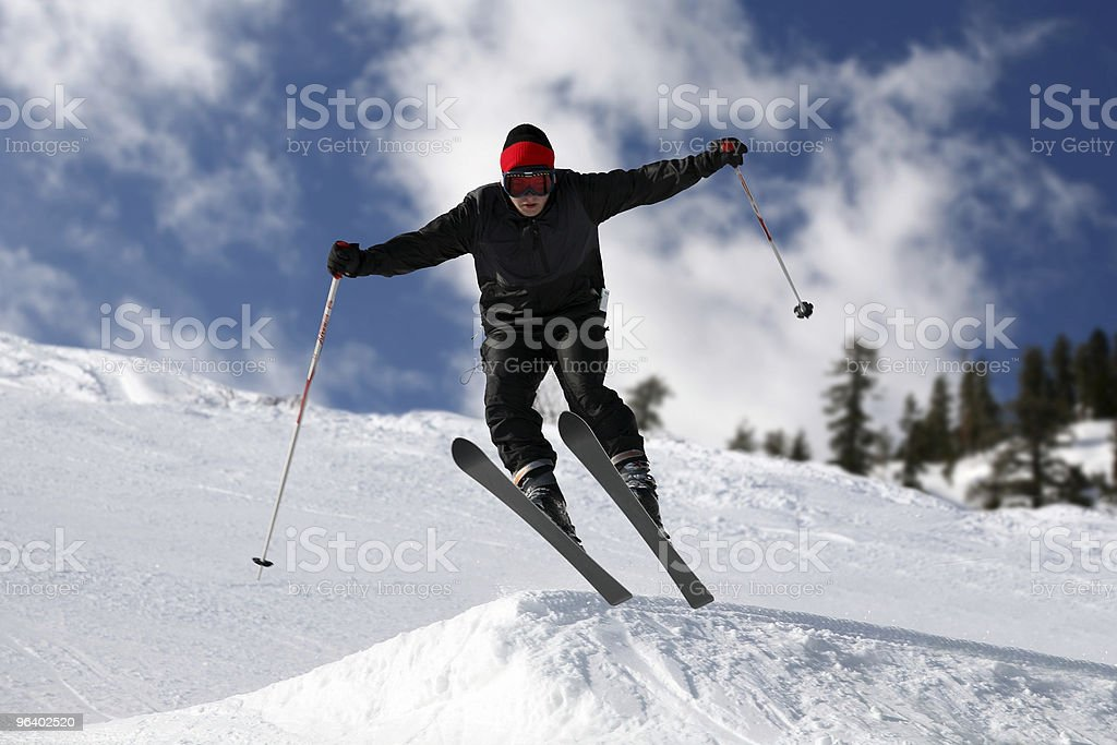 Skier jumping - Royalty-free Activity Stock Photo