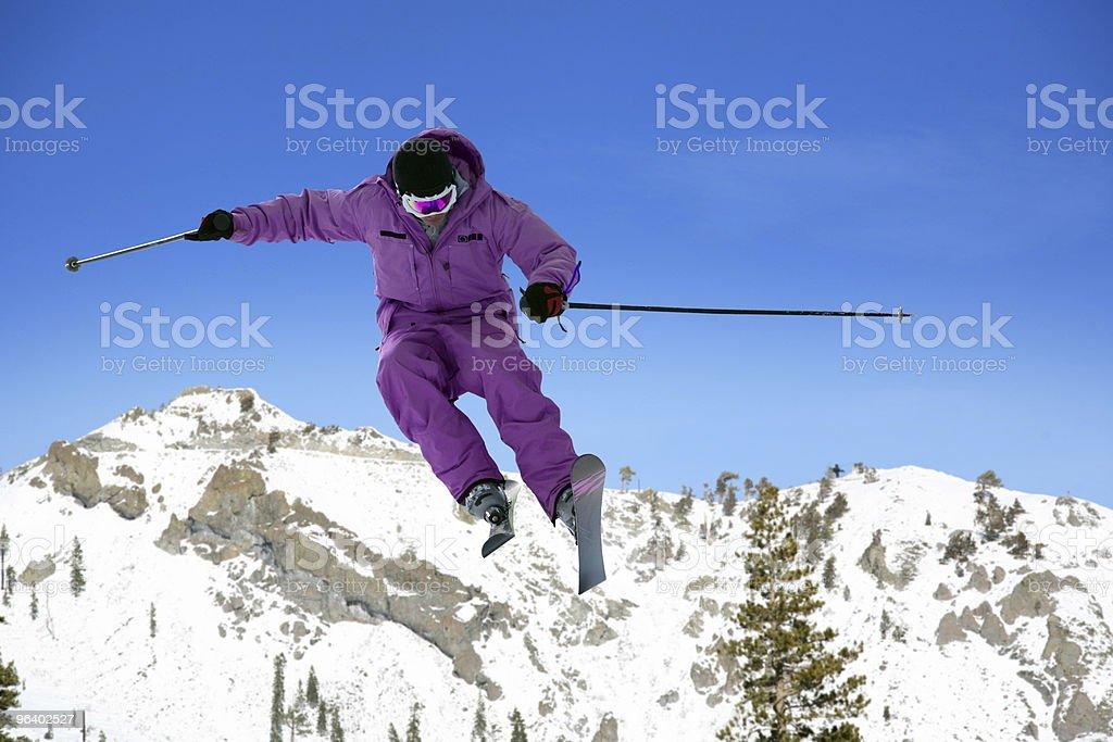 Skier jumping - Royalty-free Activity Stock Photo