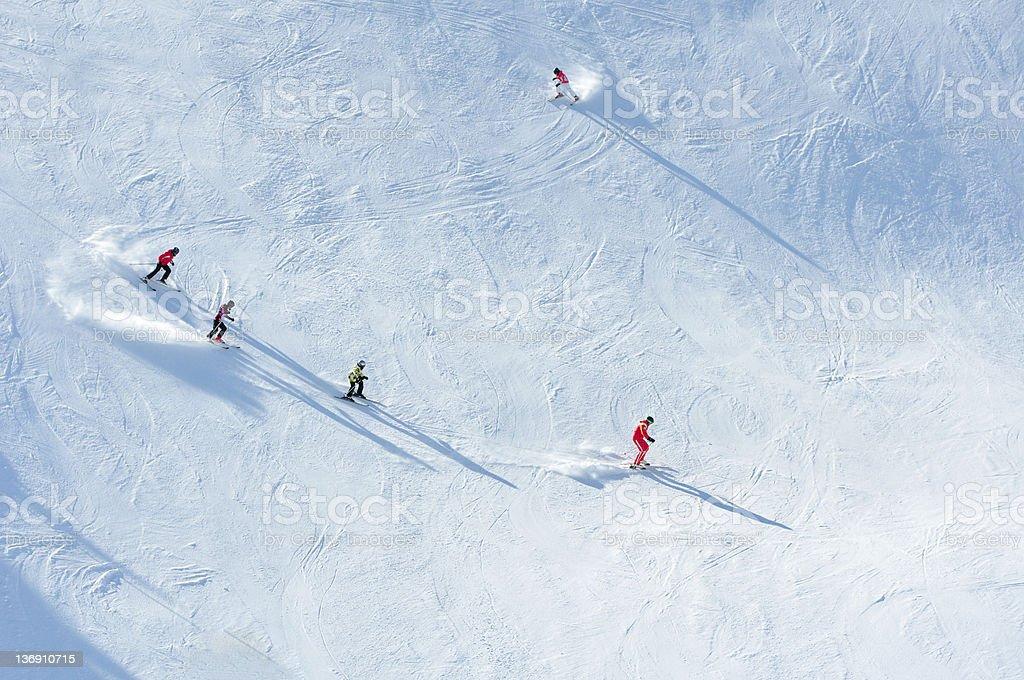 Skier on Ski Slope royalty-free stock photo