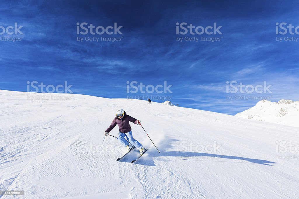 Skier on the Alps royalty-free stock photo