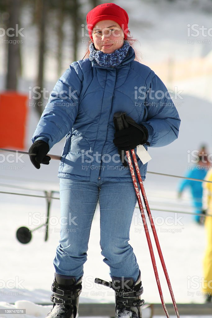 Skier royalty-free stock photo