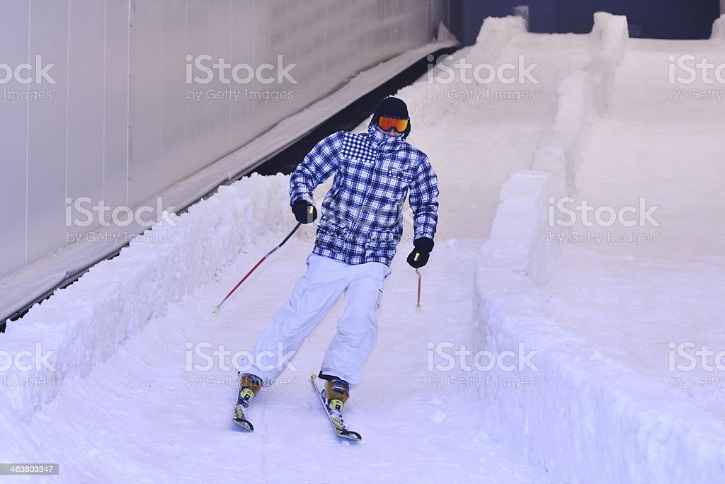 Skier stock photo