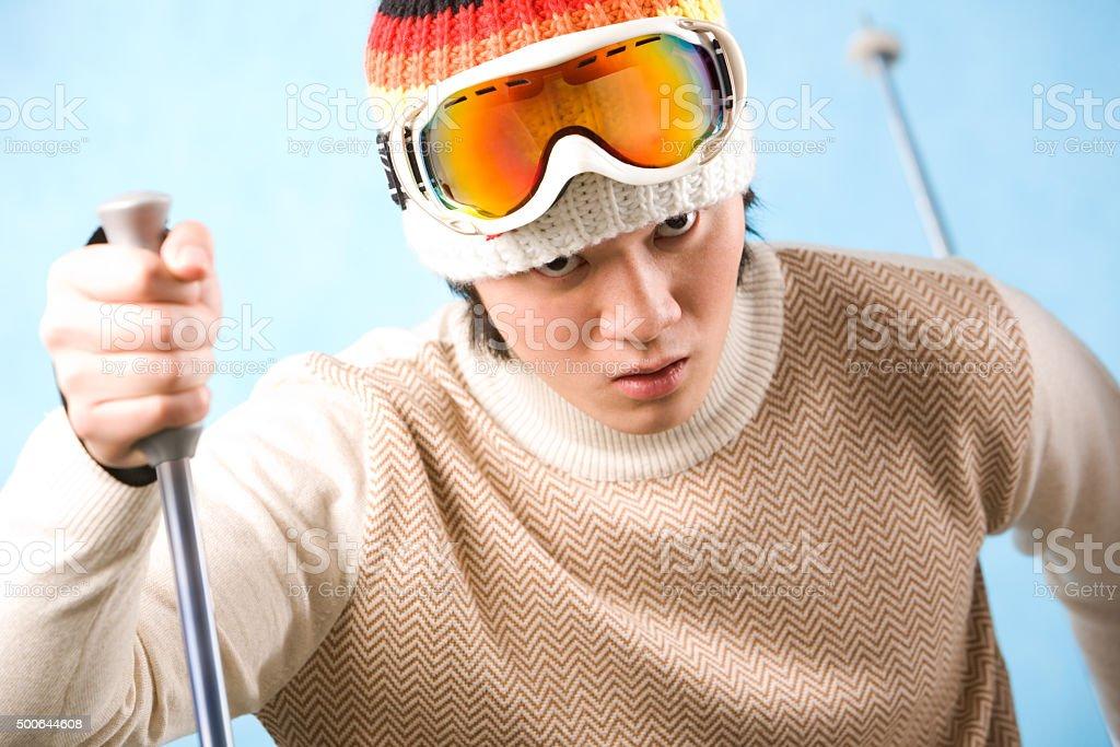 Skifahrer Lizenzfreies stock-foto