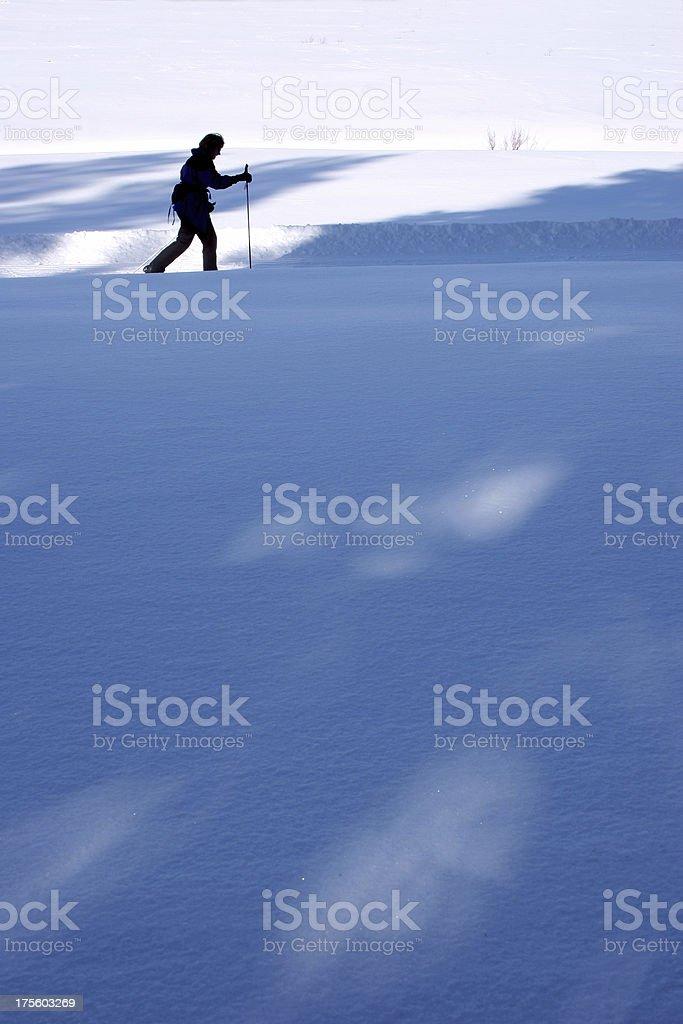Skier Silhouette royalty-free stock photo