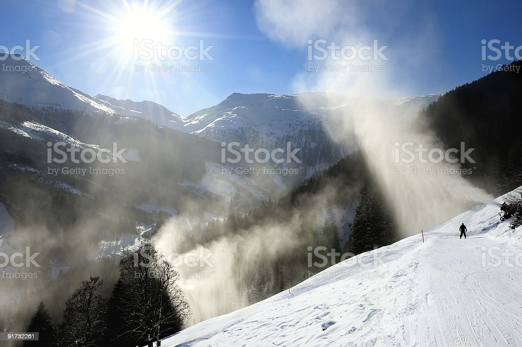 skier snow in the mountains royalty-free stock photo