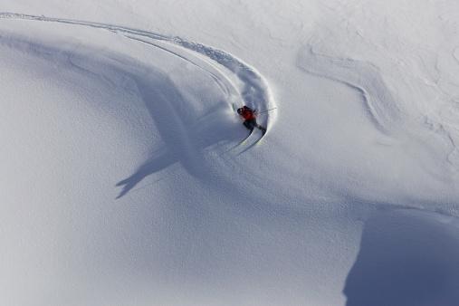 Skier turning