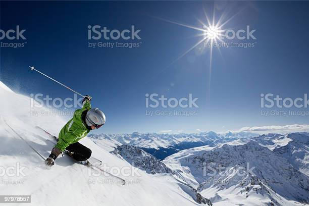 Skier with sun and mountains picture id97978557?b=1&k=6&m=97978557&s=612x612&h=oqaurgn xako mx9enhbts0svuk0kdvukmea4107jcw=
