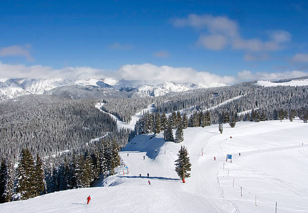 Skiers at Vail  vail colorado stock pictures, royalty-free photos & images
