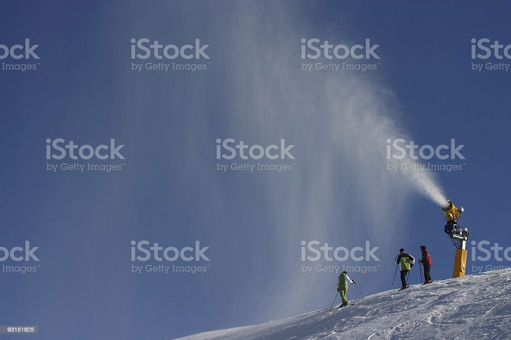 Skiers in the snow royalty-free stock photo