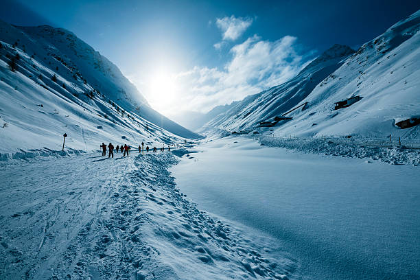 Skiers in valley of ski resort soelden tirol austria picture id530757448?b=1&k=6&m=530757448&s=612x612&w=0&h=aq gxufp7t3slng5vxq33rubaf7flcpk8x1pmpkonj0=