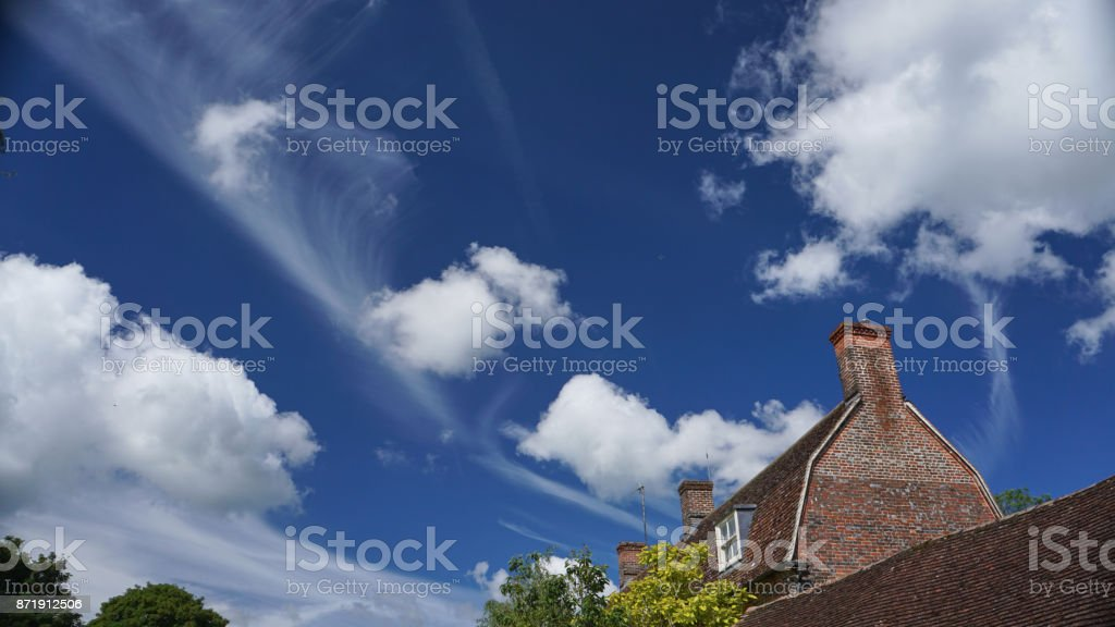 Skies above Avebury stock photo