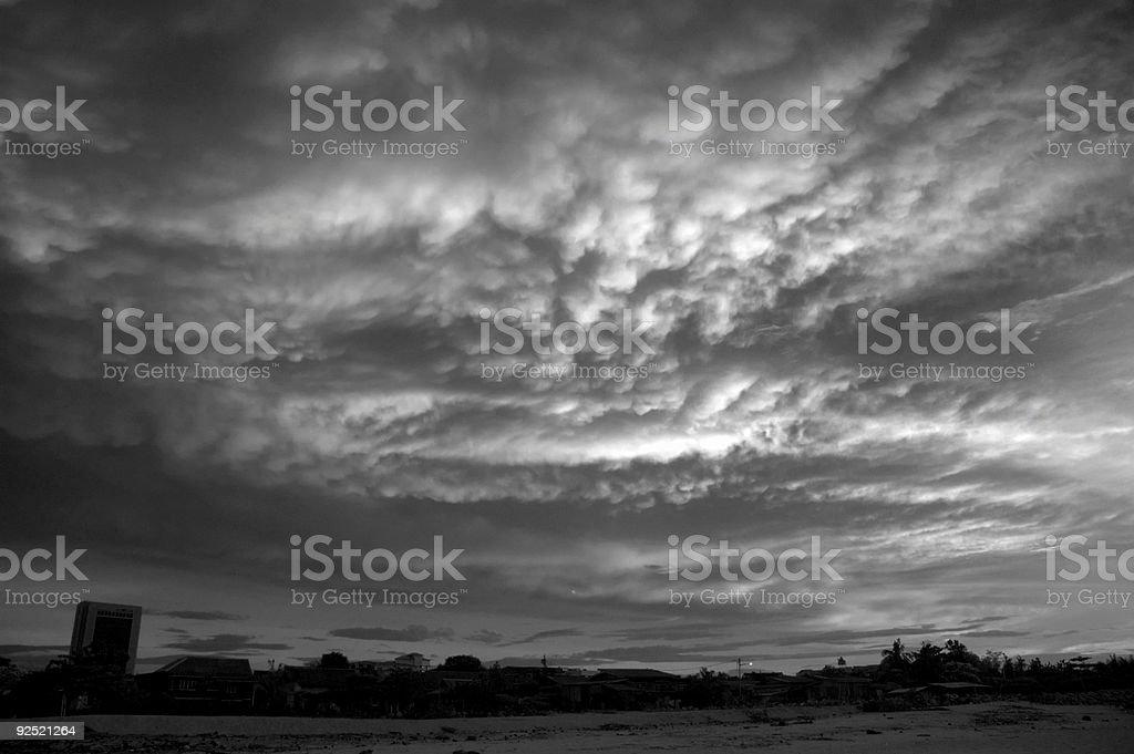 skies in monochrome royalty-free stock photo
