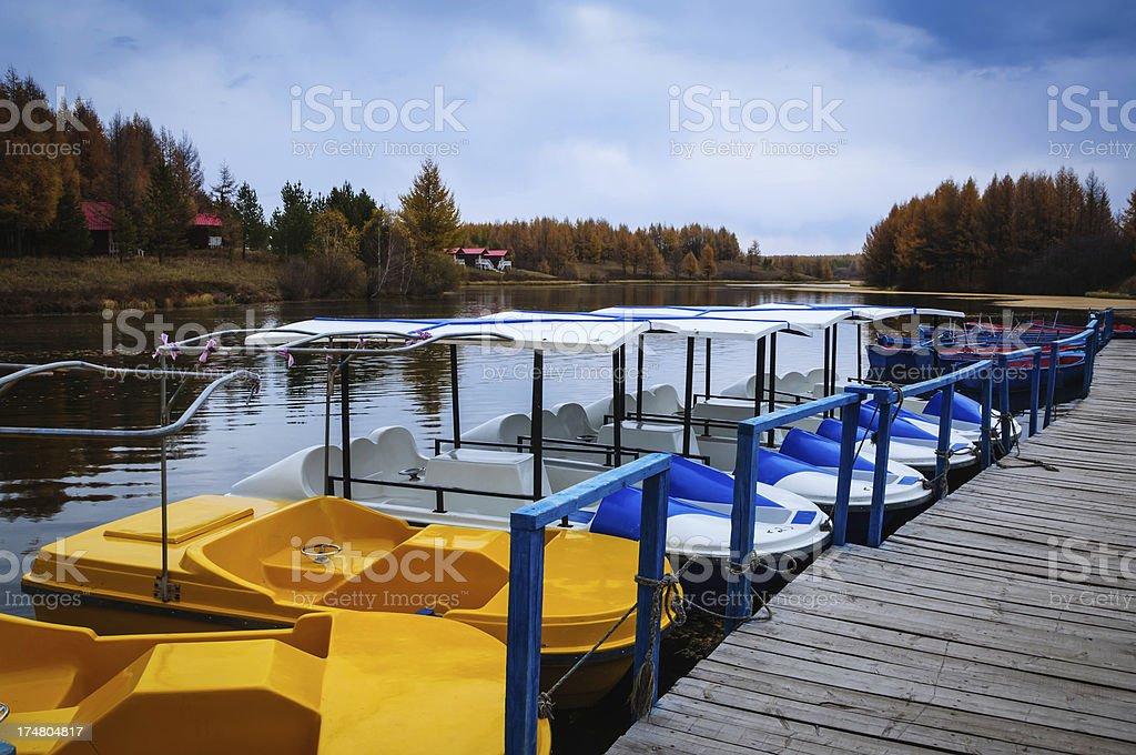 Skiff Lake Fall royalty-free stock photo
