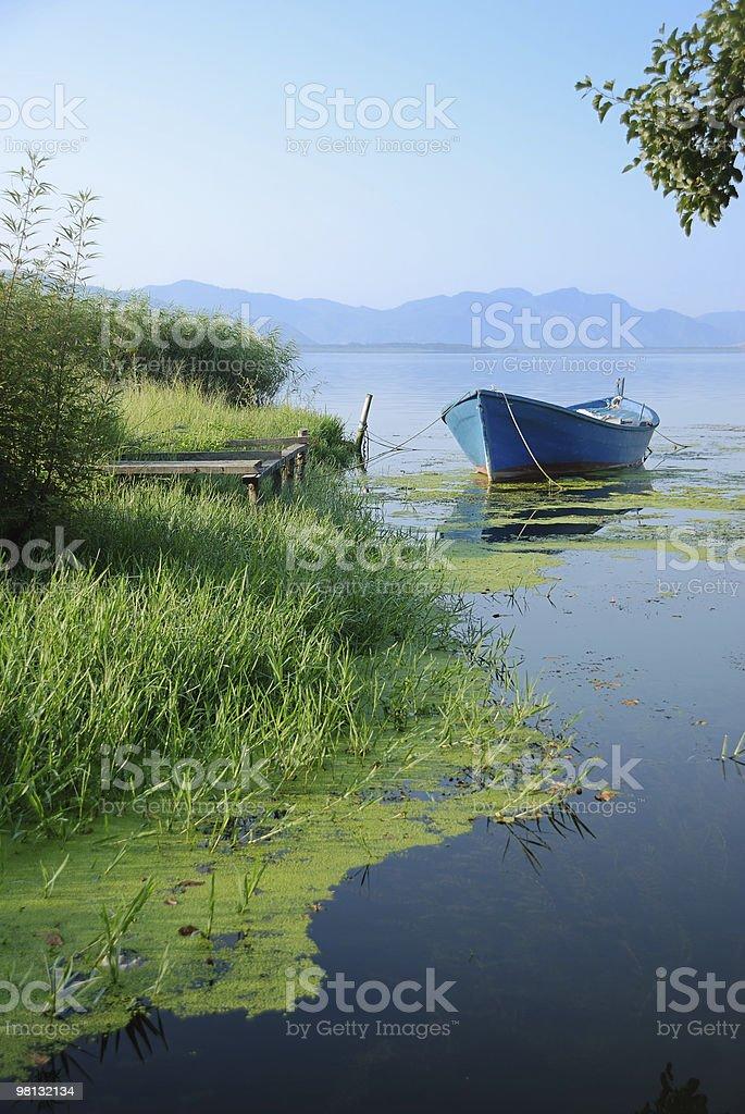 Skiff on Lake royalty-free stock photo