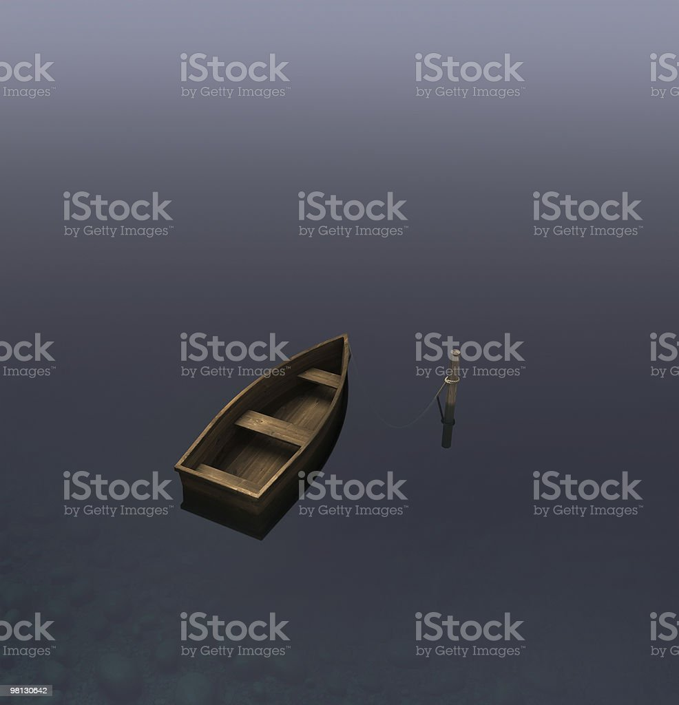 Skiff royalty-free stock photo