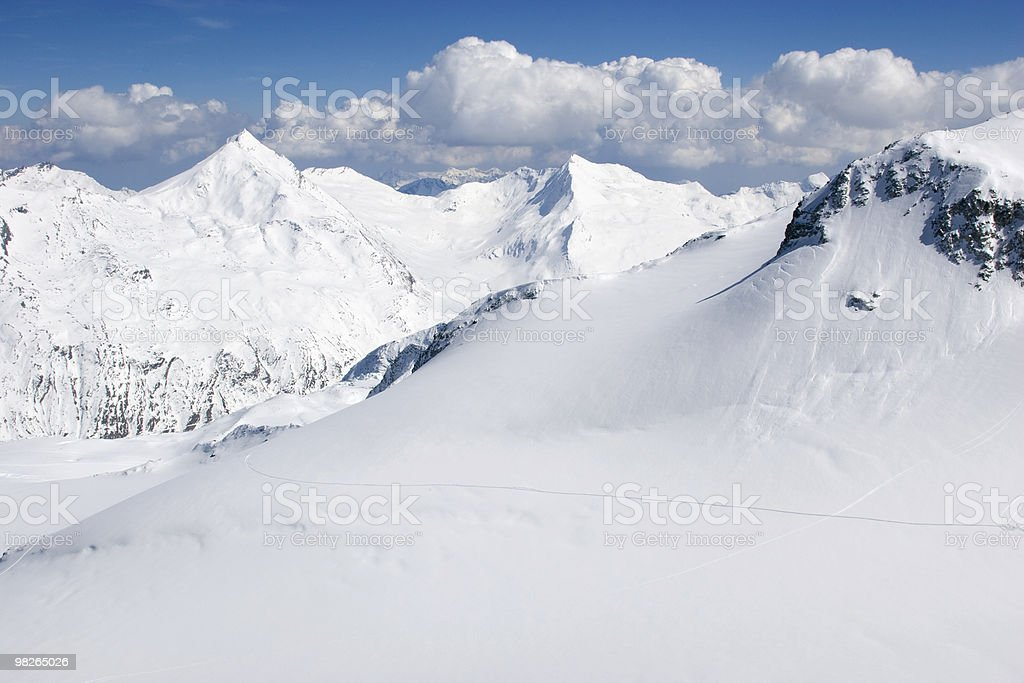 Skigebiet di Saas Fee del foto stock royalty-free