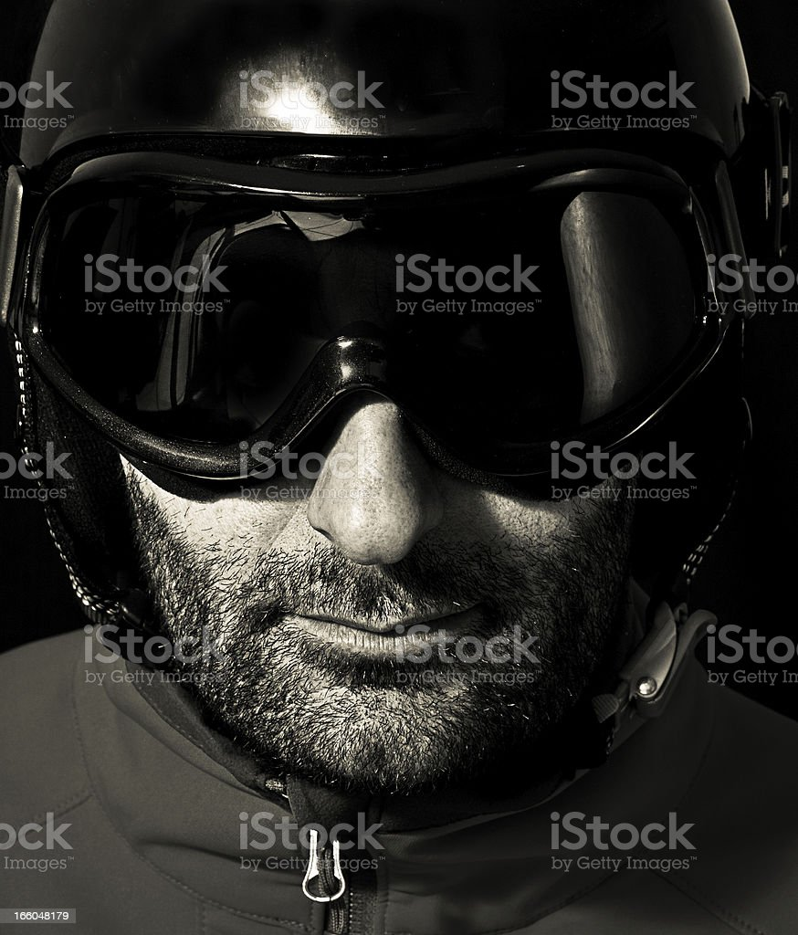 Skiier stock photo