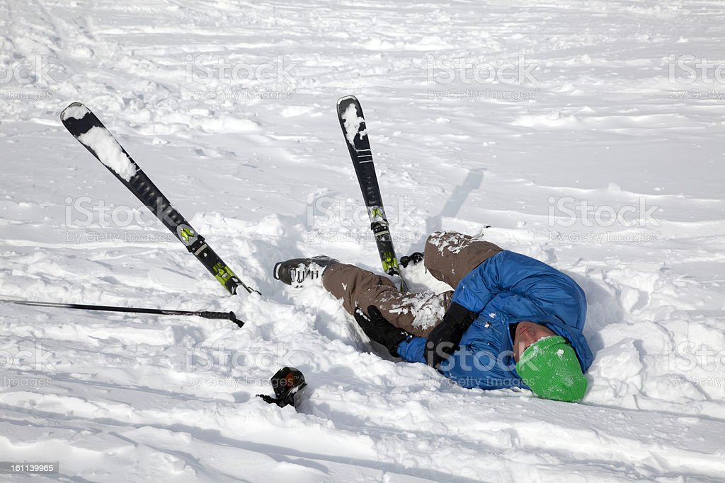 Skiing Accident royalty-free stock photo