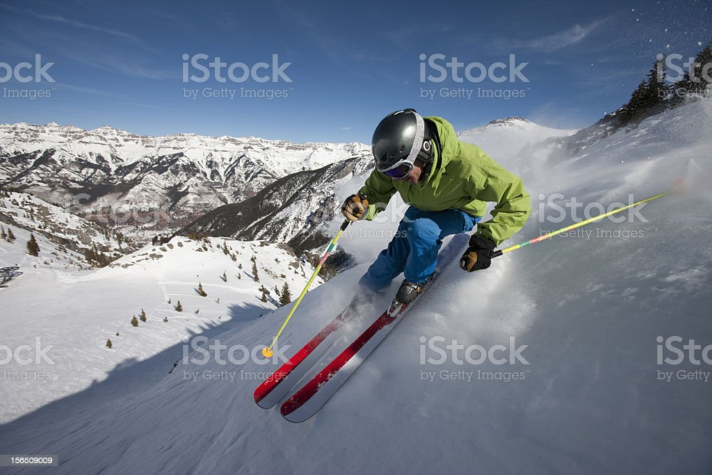 Skiing Action stock photo