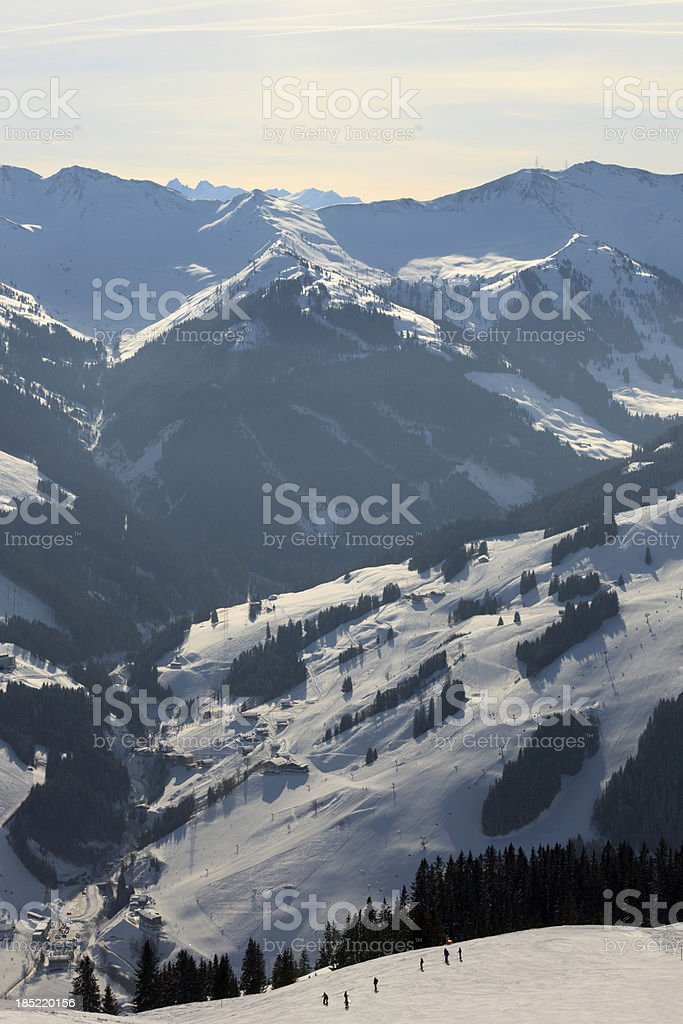 skiing area in the Austrian Alps royalty-free stock photo