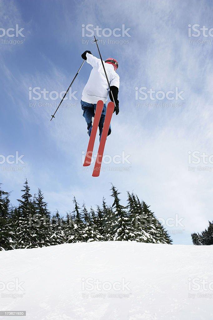 XL skiing big air stunt royalty-free stock photo