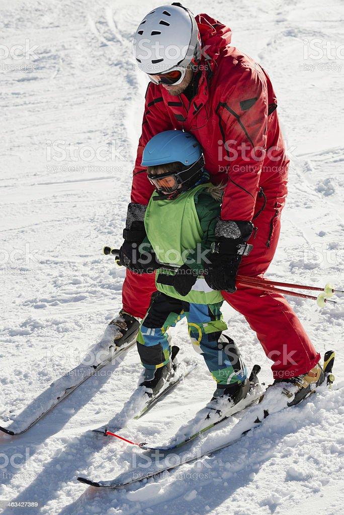 Skiing class stock photo